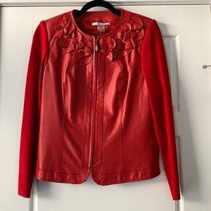 PeterNygard New Leather/Rayon Embellished JacketMP